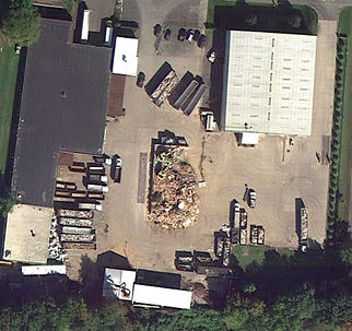 Construction Demolition Recylcing - C.D.R. Trash Transfer Station Aerial View