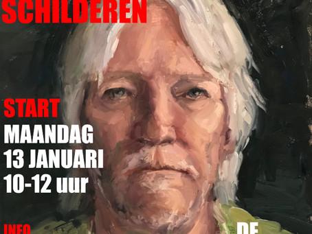 Nieuwe portretschildercursus in 2020