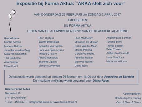 Expositie met AKKA in galerie Forma Aktua, Groningen