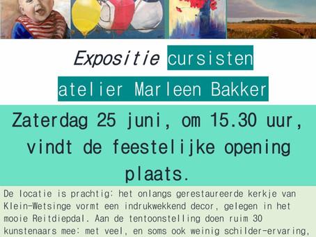 Expositie cursisten Marleen Bakker