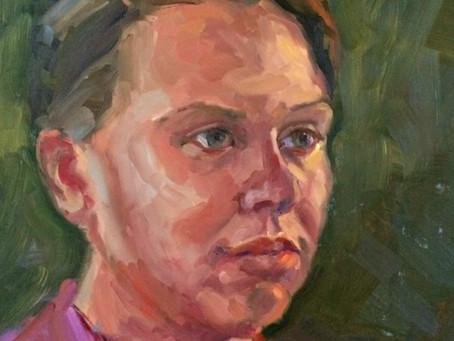 Portretschilderen in het atelier