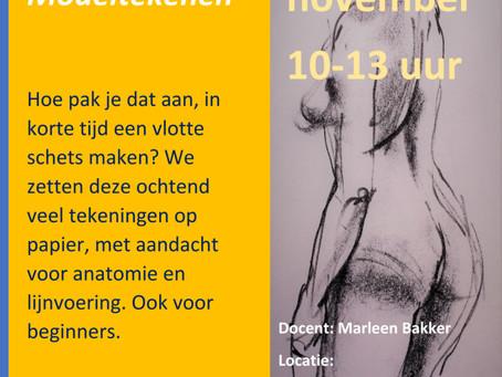 Workshop modeltekenen 25 november
