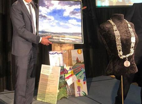 Schilderij voor burgemeester Henk Jan Bolding