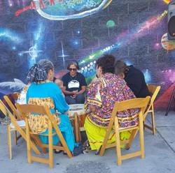 Drum Circle of Elder Women
