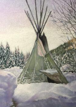 """'Snow on the TeePee"""""""