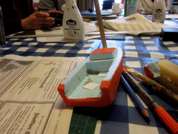 Boot zu Wasser lassen