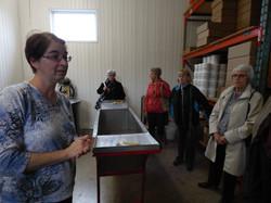 Visite à la miellerie