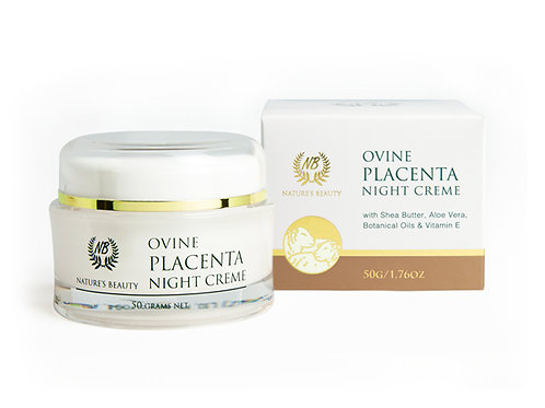 Ovine Placenta Night Crème With Shea Butter, Aloe Vera, Botanical Oils & Vitamin