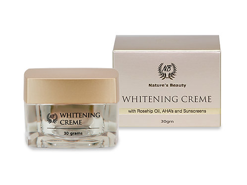 Whitening Crème With Rosehip Oil, AHA's and Sunscreens