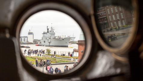 HMS Illustrious from Cutty Sark