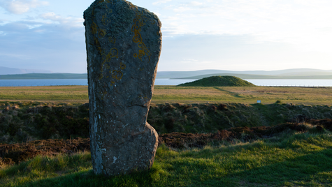 Ring of Brodgar and tumulus