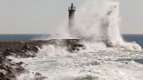 Vila do Conde lighthouse, Portugal
