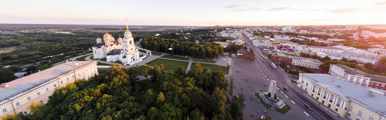 Свято-Успенский кафедральный собор, парк Пушкина. Владимир