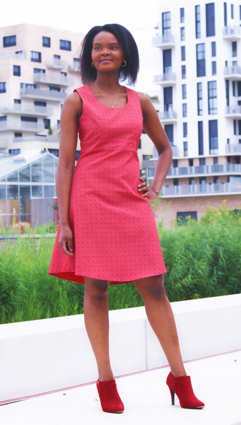 Robe Shweshwe rouge