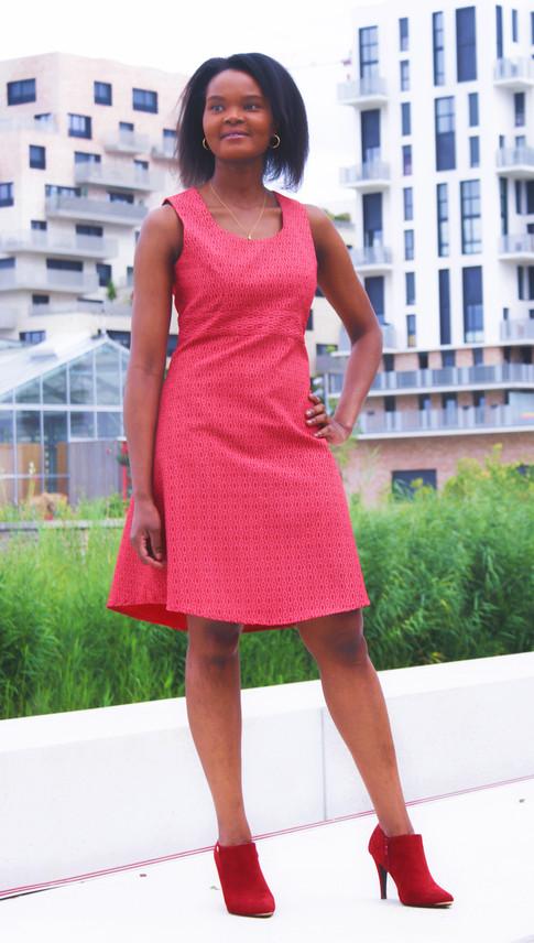 Robe Shweshwe rouge