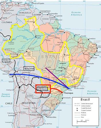 Brazil Map land-locked regions
