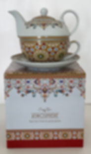THEIERE PORCELAINE SOLITAIRE TASSE orang