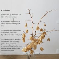 QR code fleurs branches arm right