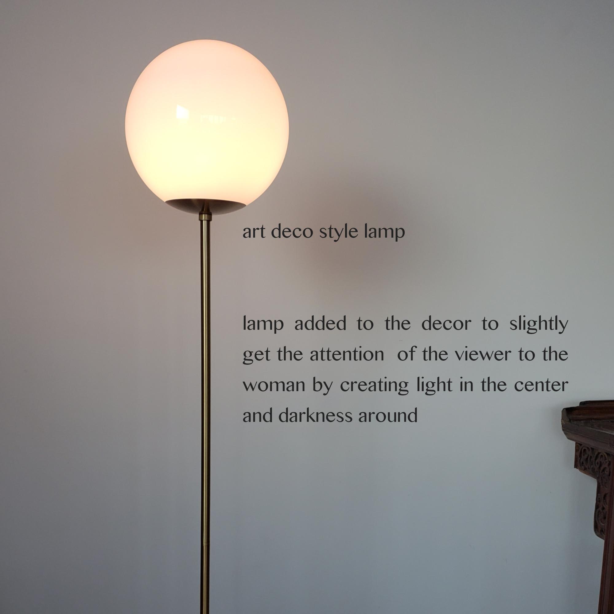 QR code lamp arm right