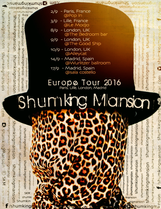 Poster for music tour