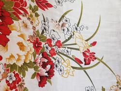 pattern of a kimono used as a tatoo for the geisha