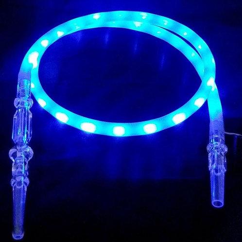 LED Silicon Shisha Hose - BLUE or Magenta