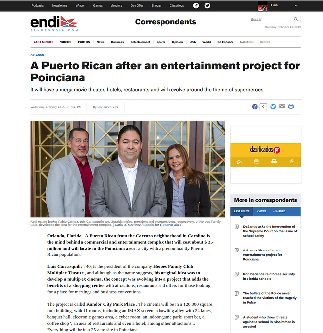 H.F.C. Theater news media article Februa
