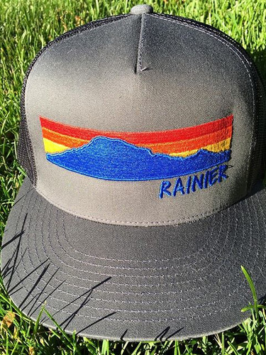 Mount Rainier Sunset Trucker Hat