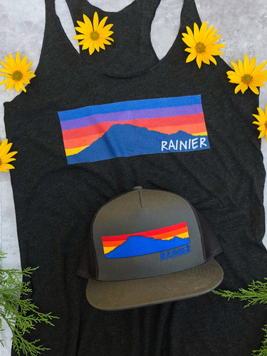 Mount Rainier Sunset Tank Top