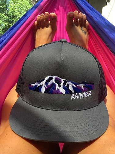 Mount Rainier Alpenglow Trucker Hat