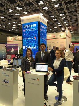 Lucky Carrot, Armenia Startup Academy alumni startup, presenting during Qitcom Qatar IT Conference and Exhibition