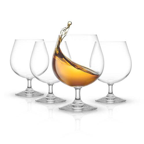 JoyJolt Cast Brandy Glasses