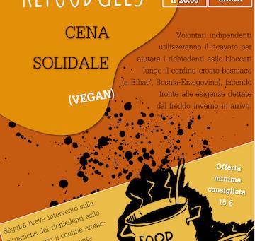 Refoodgees: cena solidale vegan, Udine venerdì 19 ottobre ore 20.00