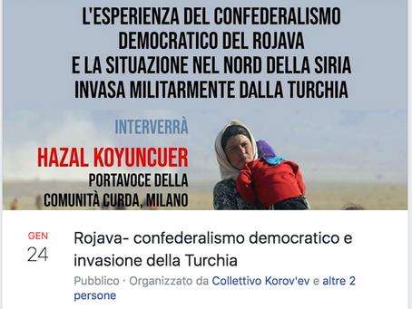 Dibattito sul Rojava Udine venerdì 24 gennaio 2020 ore 17.00