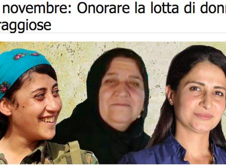 25 novembre per le donne Curde