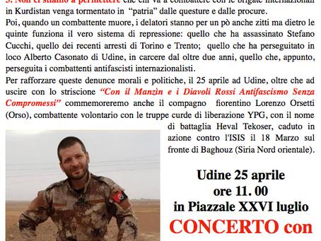 Partecipate al 25 Aprile ad Udine!