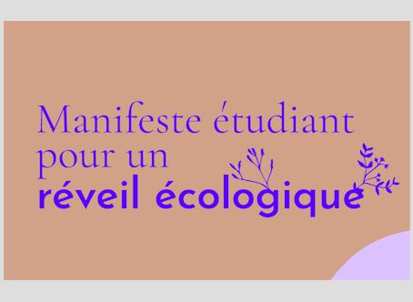 Manifesto degli studenti per un risveglio ecologico