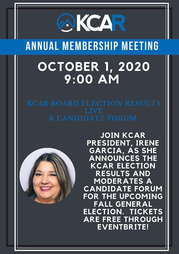 October 1, 2020 Annual Membership Meetin