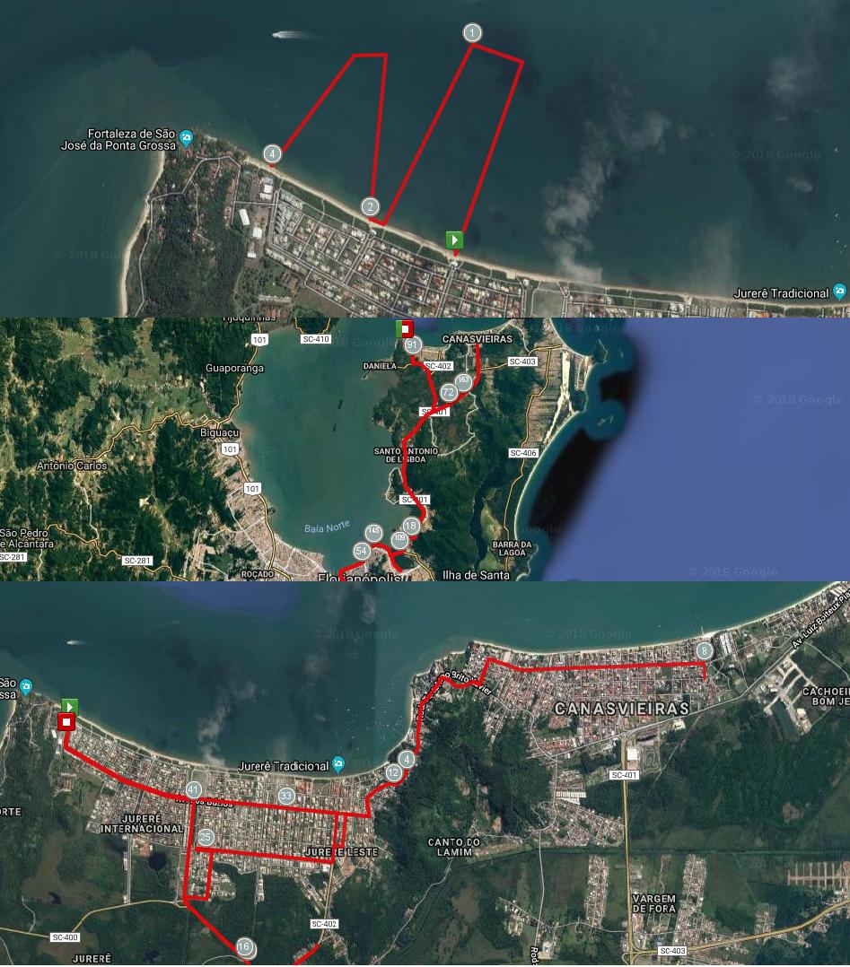 Circuitos de Natación, Ciclismo y Trote