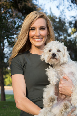 Crystal And Her Dog Sunny