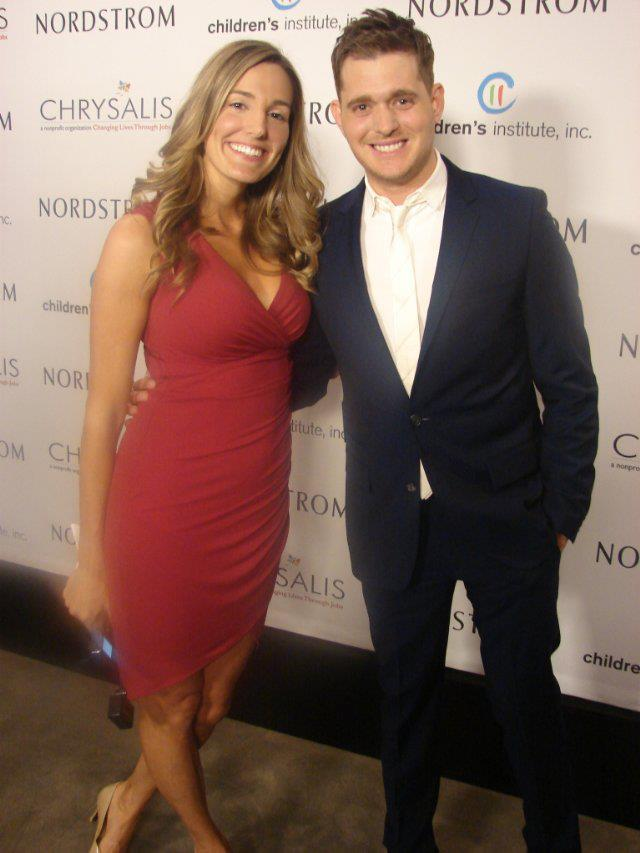 Crystal and Singer Michael Buble