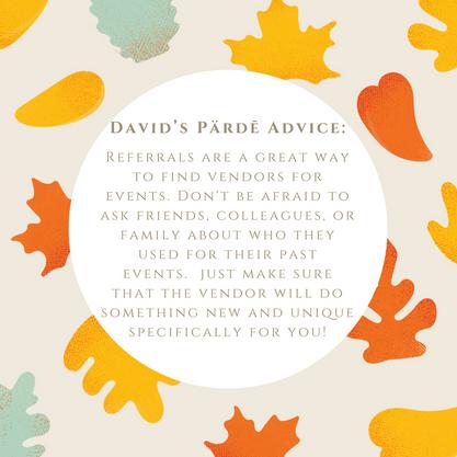 David's Pärdē Advice #18