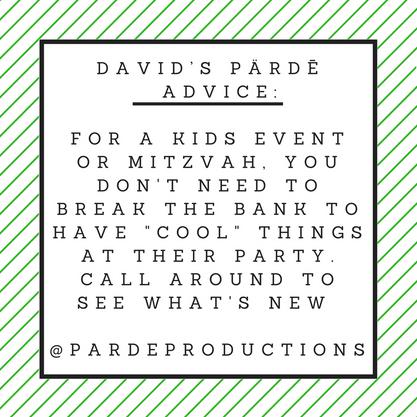 David's Pärdē Advice #12