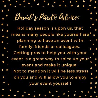 David's Pärdē Advice #17