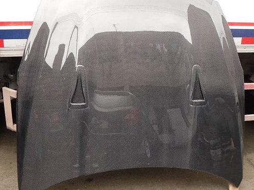 08-16' GTR R35 OEM STYLE HOOD-DOUBULE SIDE CARBON