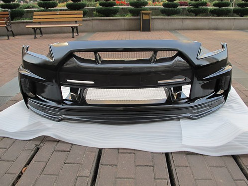 08-16' GTR R35 WALD TYPE-2 STYLE FRONT BUMPER W/ EYE LID'NOSE COVER'S VENT'LIP