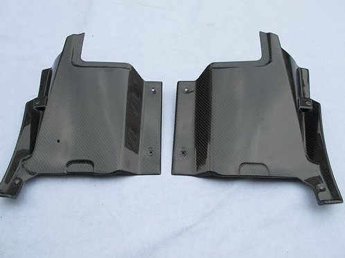 FERRARI F430 ENGINE AIR INTAKE SIDE VENTS BOTTOM PANEL-2PCS