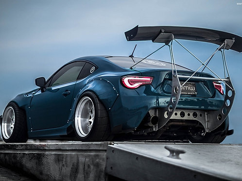 86/BRZ GT86/FT86/FRS KILLAGRAM STYLE GT WING W/ METAL BRACKETS