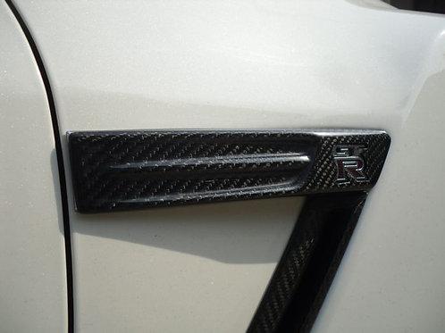 08-12' GTR R35 FRONT FENDER EMBLEM COVER-4PCS