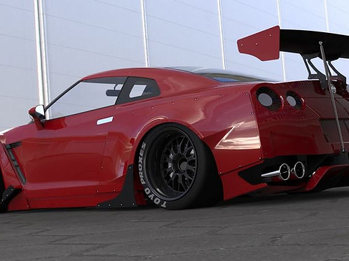 08-16' GTR R35 ROCKET BUNNY WIDEBODY STYLE SIDE SKIRT CANARD-2PCS